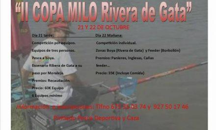 Las aguas de la Rivera de Gata y El Borbollón acogerán en octubre la II Copa Milo de Pesca