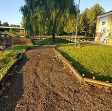 El consistorio de Moraleja acomete labores de mejora en el Parque Fluvial tras la temporada estival