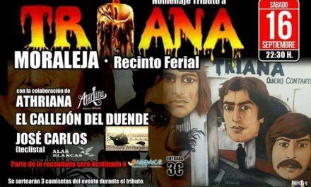 El recinto ferial de Moraleja acogerá este sábado un tributo al grupo Triana a favor de ASPACE