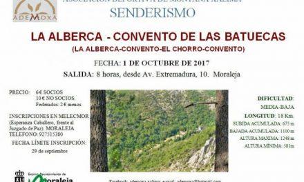 La Asociación Ademoxa inaugurará este domingo el calendario senderista con una ruta por La Alberca