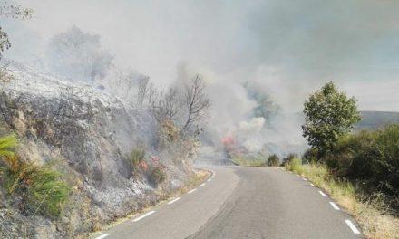 El INFOEX declara el nivel 1 de peligrosidad por un incendio en el municipio de Cabezabellosa