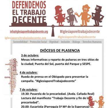 La Diócesis de Plasencia lleva a cabo la Jornada Mundial para luchar por el Trabajo Decente