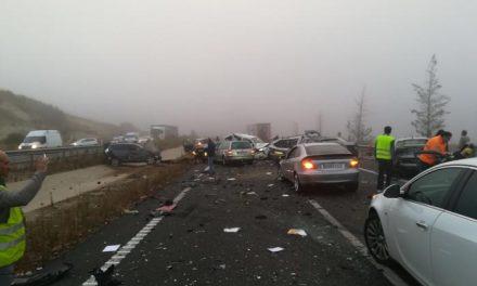El consejero de Sanidad eleva a 20 el número de heridos, uno muy grave, en el accidente de la EX-A1