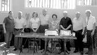 El grupo de los voluntarios del museo devocional de Almendralejo rinden un homenaje a Medina