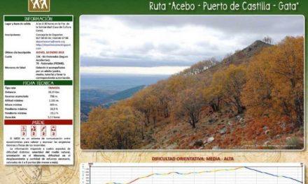 La Sierra de Gata será el destino de la primera ruta senderista del departamento de Deportes de Coria