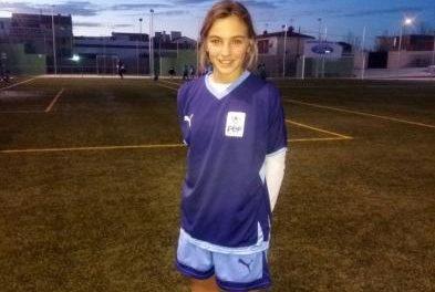 La joven de Coria Thais Sánchez participa en el Campeonato de España de Fútbol-8