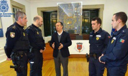 Agentes de Cáceres refuerzan la seguridad en Castelo Branco durante los días de Semana Santa