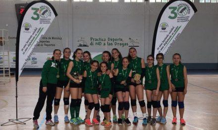 El equipo infantil femenino de Moraleja gana el Campeonato de Extremadura de Voleibol