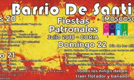 """El grupo """"Los Chichos"""" serán el plato fuerte de las fiestas del barrio de Santiago de Coria"""