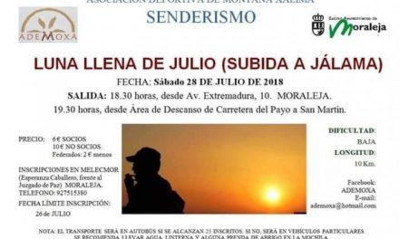 ADEMOXA celebrará este domingo la ruta de subida al monte jálama para disfrutar de la luna llena de julio