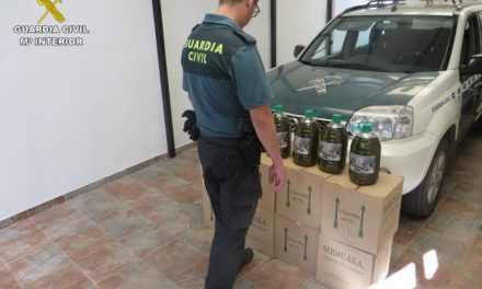 La Guardia Civil recupera 160 litros de aceite de oliva sustraídos en una almazara de Carbajo