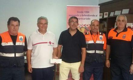 El sector hostelero de Coria dona el excedente de la Feria de San Pedro a Cruz Roja y Protección Civil