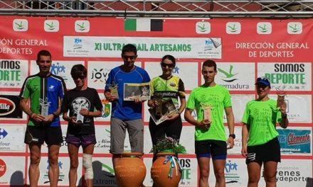 Los extremeños Lidia de la Calle y Carlos Caldera ganan el XI Ultra Trail Artesanos de Torrejoncillo