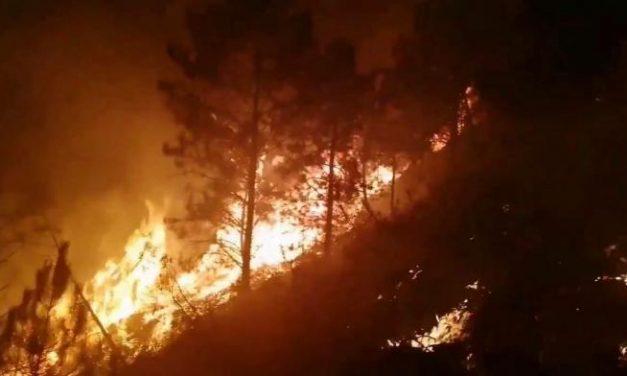 La alquería hurdana de La Fragosa registra un incendio forestal en la tarde de este lunes