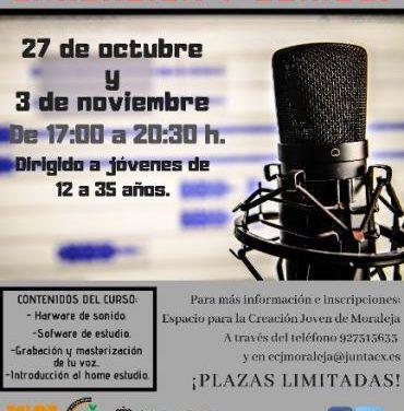 Moraleja continúa con el X Plan Local de Juventud con un taller sobre grabación y tratamiento del sonido