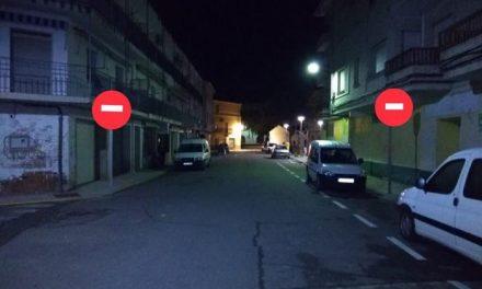 Entran en vigor las nuevas normas de circulación en la calle Ronda del Calvario de Moraleja