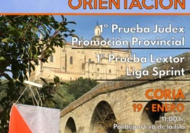El casco histórico de Coria será el escenario el día 19 de la primera prueba JUDEX de Orientación
