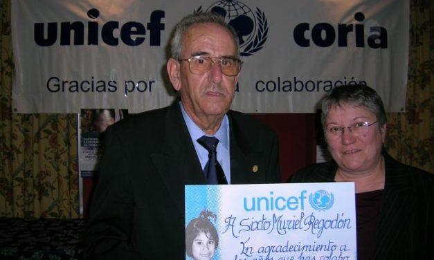 La ONG Unicef reconoce la solidaridad de Sixto Muriel