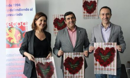 Unos 40 establecimientos de Coria participarán en la campaña comercial de San Valentín