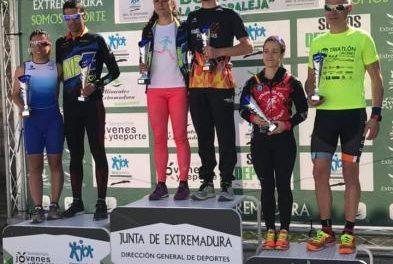 """David Puertas y Estefanía Domínguez son los ganadores del IV Duatlón """"Villa de Moraleja"""""""