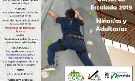 El Ayuntamiento de Moraleja abre el plazo de inscripción para el curso de escalada que tendrá lugar en abril y mayo