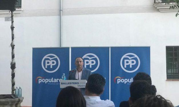 """José Manuel García Ballestero destaca que desde el Partido Popular luchan por Coria """"por encima de todo"""""""