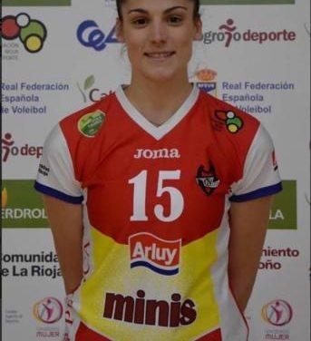 La moralejana Alba Sánchez se corona como Campeona de la Liga de voleibol junto a su equipo el Minis Arluy