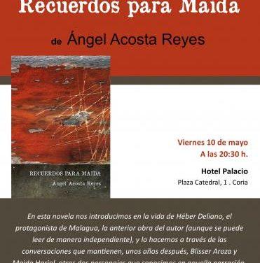 El cauriense Ángel Acosta presentará su tercera novela este viernes en el Hotel Palacio de Coria