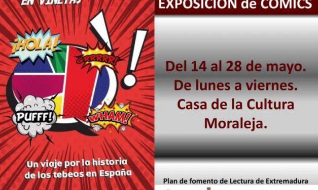 """La Casa de Cultura de Moraleja acoge la exposición de cómics """"un mundo de historias en viñetas"""""""