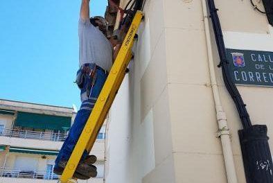 El Ayuntamiento de Coria ultima los detalles de los trabajos de mejora eléctrica en la calle Corredera