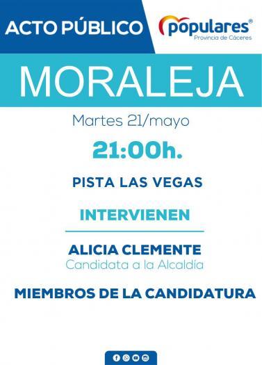 El Partido Popular de Moraleja dará un mitin el próximo 21 de mayo en la Pista de las Vegas