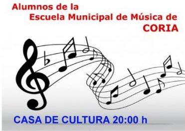 Las audiciones de la Escuela de Música de Coria se celebrarán en la Casa de Cultura