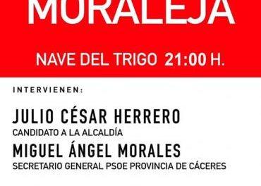 El Partido Socialista de Moraleja dará un mitin este jueves en la Nave del Trigo de la localidad