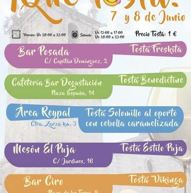 """El Ayuntamiento de Moraleja está preparando la segunda edición del evento gastronómico """"¡Qué Tostá!"""""""