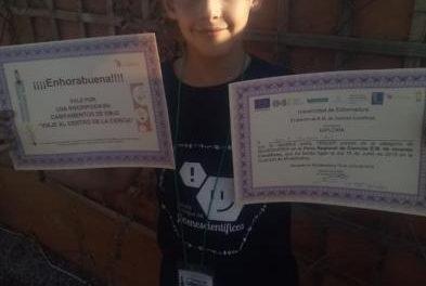 Un joven de Moraleja logra el tercer puesto en la V Feria Regional de Ciencias celebrada en Montánchez