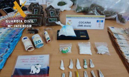 La Guardia Civil desarticula una organización criminal dedicada al tráfico de drogas en Coria