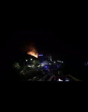 Los Sanjuanes de Coria cierran con un final accidentado tras un incendio con los fuegos artificiales