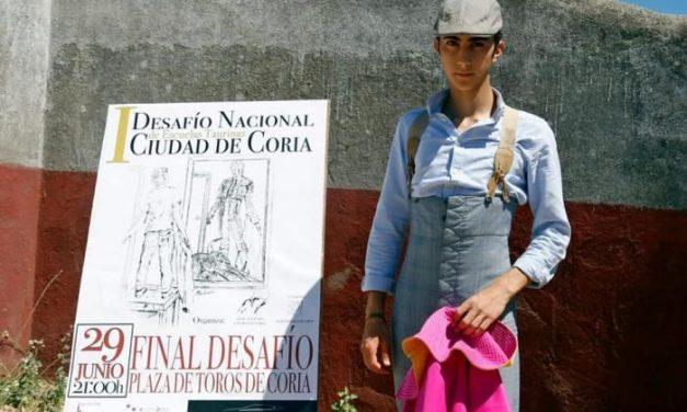El pacense Miguel Perera se convierte en el ganador del I Desafío de Escuelas Taurinas de Coria
