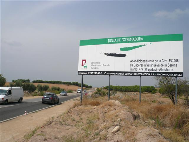 El PP pide a la Junta de Extremadura que garantice la seguridad vial en la EX-206 que se encuentra en obras