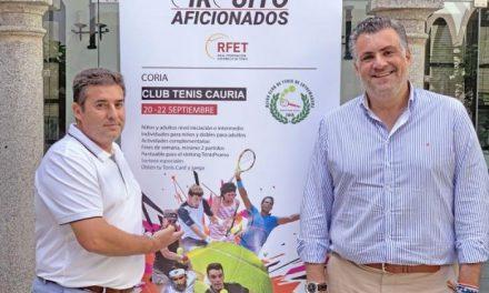 Coria acogerá este fin de semana el III Trofeo de Tenis del Circuito de Aficionados de la Federación Española