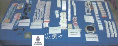 La Policía Nacional detiene en Almendralejo a ocho personas por tráfico de drogas y anabolizantes