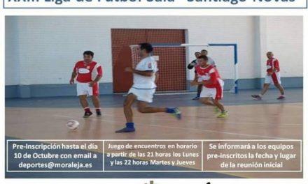 Los equipos interesados en participar en la Liga de Fútbol Sala de Moraleja ya pueden preinscribirse