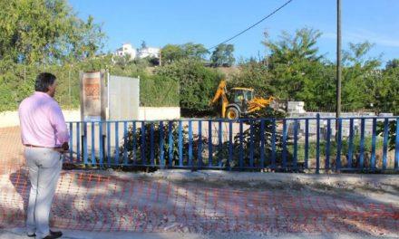 """Empiezan los trabajos de remodelación del paseo de La Isla de Coria para convertirlo en """"una zona más amplia"""""""