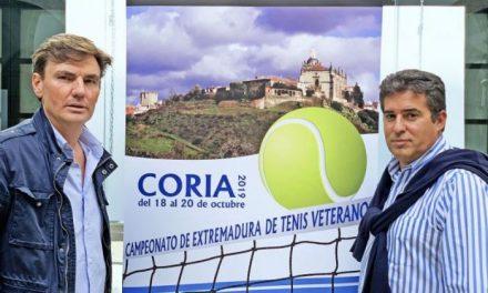 La ciudad de Coria acogerá este fin de semana el Campeonato de Extremadura de Tenis de Veteranos
