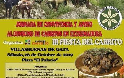 Más de 600 personas se reunirán este sábado en Villasbuenas en la III Fiesta del Cabrito