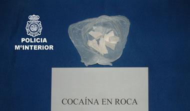 La policía interviene en Mérida 1.000 dosis de cocaína en roca  y detiene a un hombre
