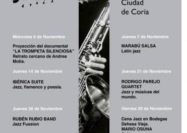 Coria celebrará a lo largo de este mes la VIII Festival Internacional de Jazz con música y gastronomía