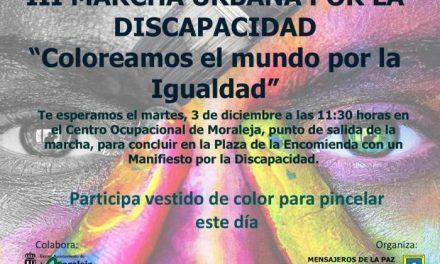 Moraleja acogerá el próximo mes de diciembre la III Marcha Urbana por la Discapacidad