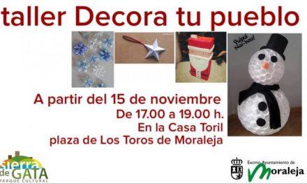 El Ayuntamiento de Moraleja lanza una campaña de decoración de navideña con productos reciclados