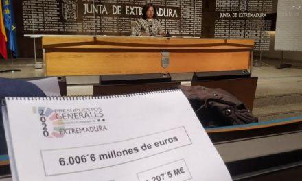 Los Presupuestos de Extremadura para 2020 superan los seis mil millones de euros